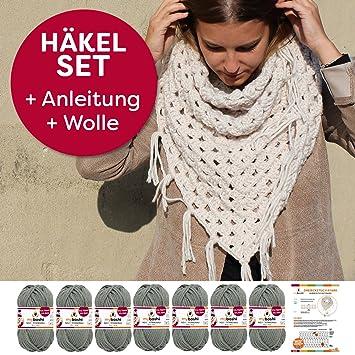 myboshi Häkelset für Anfänger: Dreieckstuch Ayabe aus Wolle häkeln ...