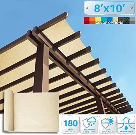 Amazon Com Patio Paradise 8 X 10 Sunblock Shade Cloth Roll