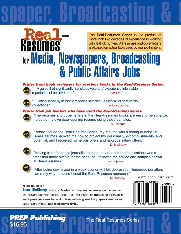 affair broadcasting job media newspaper public real resume