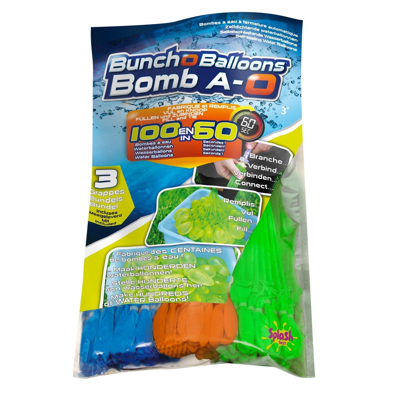 Original Bunch O Balloon Wasserbomben, 100 Wasserbomben in 60 Sekunden - selbstschließend ohne Knoten (5er Pack)