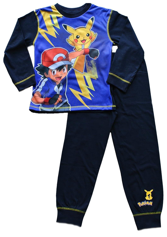 pokemon boys ash and pikachu pyjamas ages 5 to 13 years amazon co