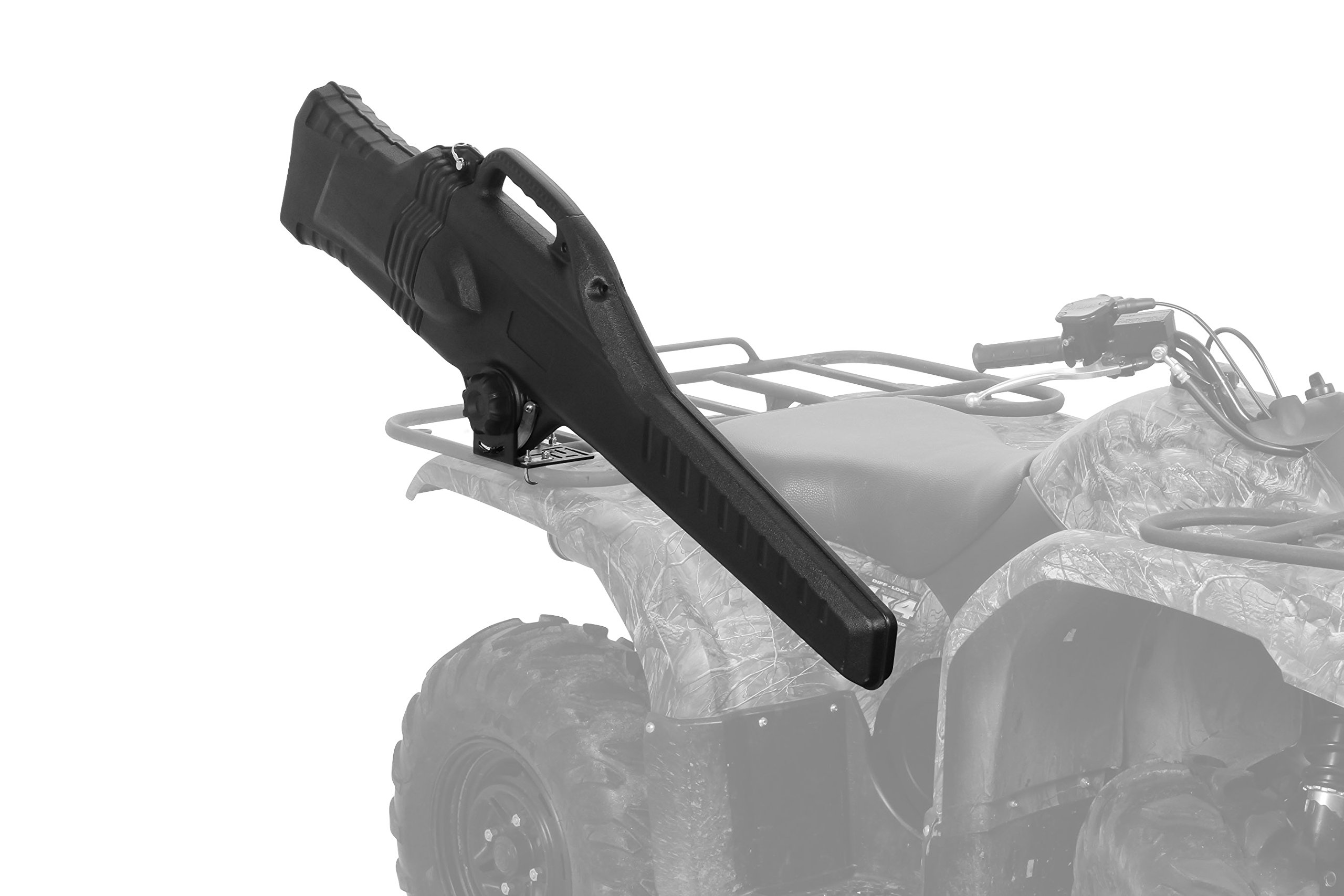 Black Boar ATV Gun Holder Case with Integrated Carry-Handle and Affixed Soft-Sided Inner Liner, Stores and Protects Most Rifles, Mounting Hardware Included (66012)