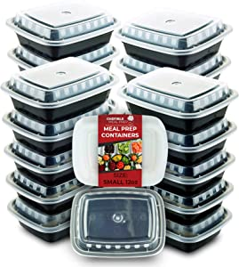 Chefible [14 Pack] Small Mini Single Compartment Meal Prep Container, Food Storage, Bariatric Meal Prep, Durable, BPA-free, Reusable, Washable, Microwavable, Perfect for Diet Portion Control!
