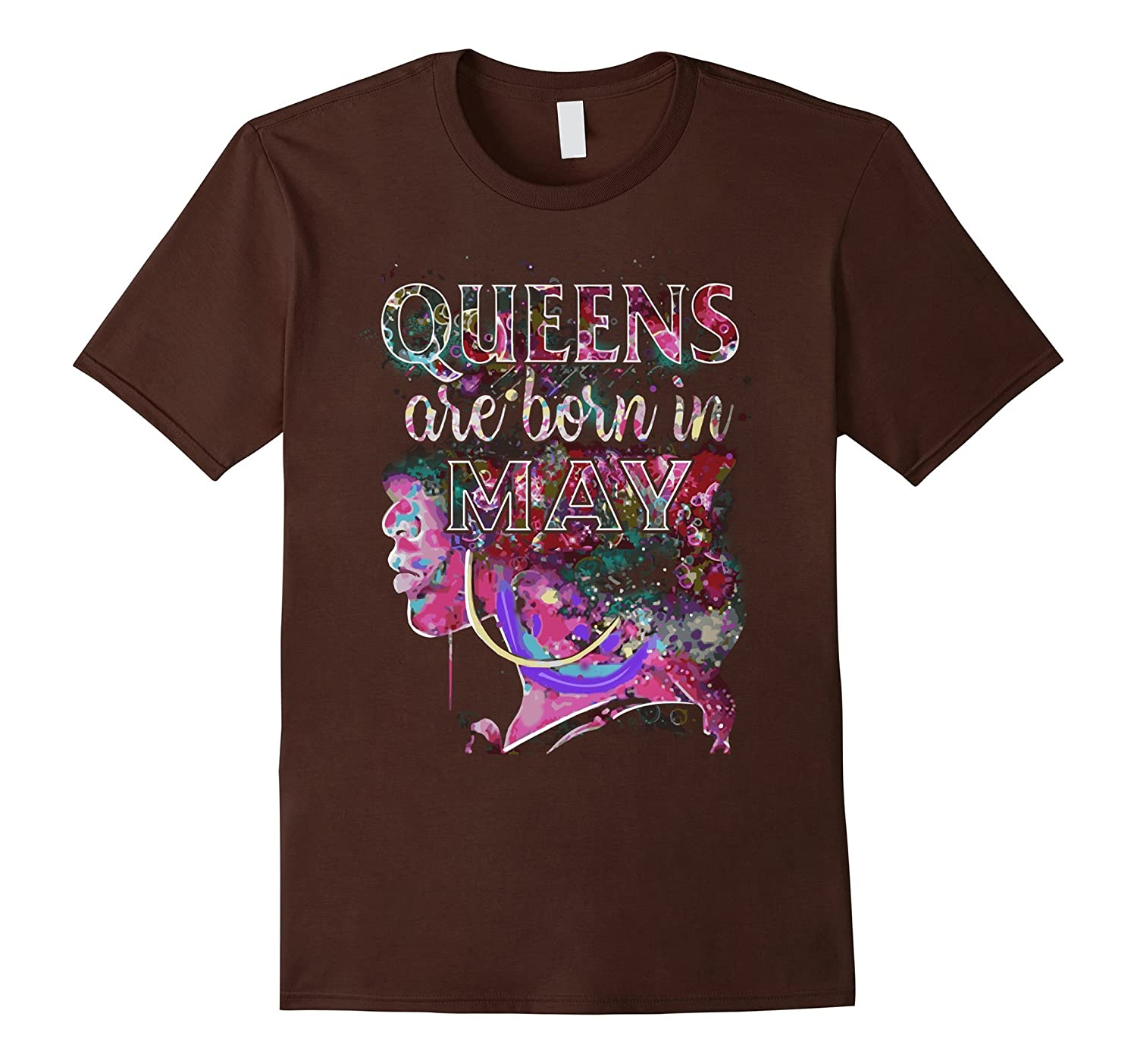May Queens Colorful Birthday T-Shirt-Vaci