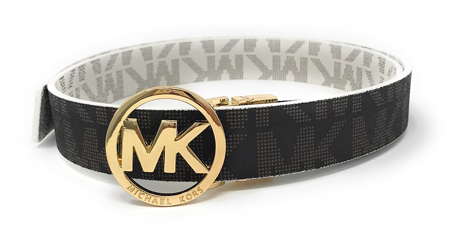 7af98eb13f2c ... discount code for michael kors mk signature monogram belt and buckle  reversible at amazon womens clothing