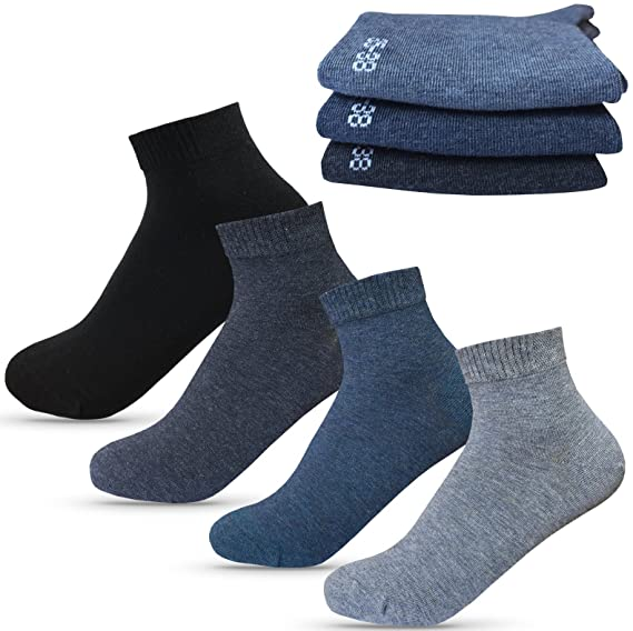 3 Paar GROJADORI Bambus Kurz Socken Komfortbund Unisex