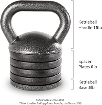 KB Kettle Bell Plates Crossfit Weight Adjustable Kettlebell Handle