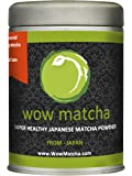WowMatcha Japanese Ceremonial Grade Hand Ground Matcha Powder, 100g
