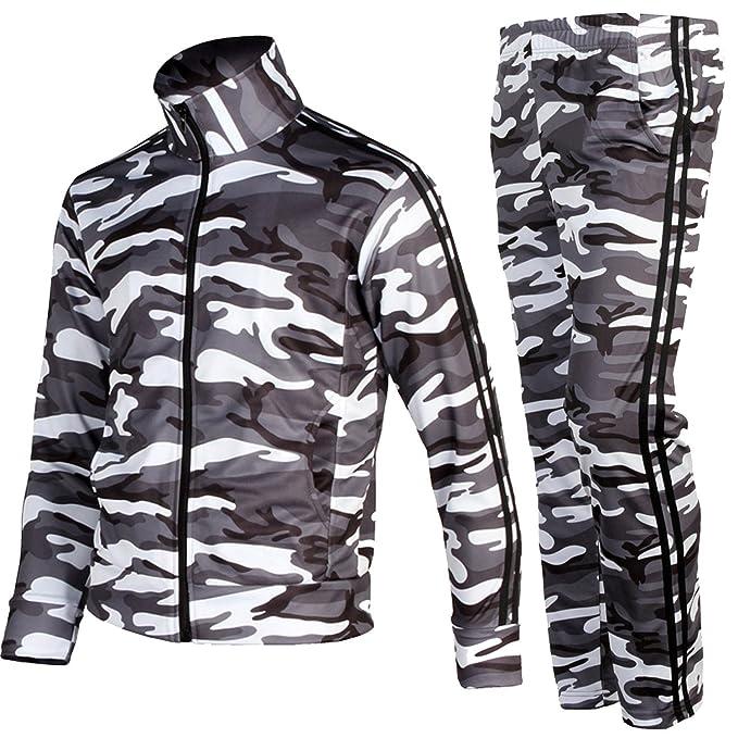 myglory77mall Traje de chaqueta y pantalones gimnasio desgaste para hombre Grande (2Xl asiática) Camo: Amazon.es: Ropa y accesorios