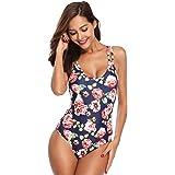 MARINAVIDA Women One Piece Swimsuit Strap Low Back Bathing Suit