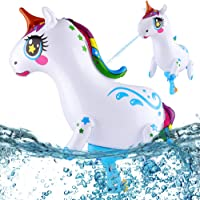 PhyPa Unicorn Water Guns for Kids, Inflatable Super Squirt Toy, Water Soaker Blaster Toy for Girls and Boys, Children…