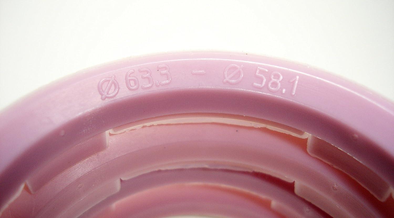 Anzio rial 4 rkc llantas anillas de centrado 63,3mm x 52,1 mm beige para Alutec