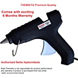 THEMISTO - built with passion 40W Leak Proof Hot Melt Glue Gun with Glue Sticks with Anti Drip for Arts and Crafts (Black) - 25 Pieces