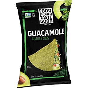 Food Should Taste Good, Tortilla Chips, Guacamole, Gluten Free Chips, 5.5 oz (Pack of 12)