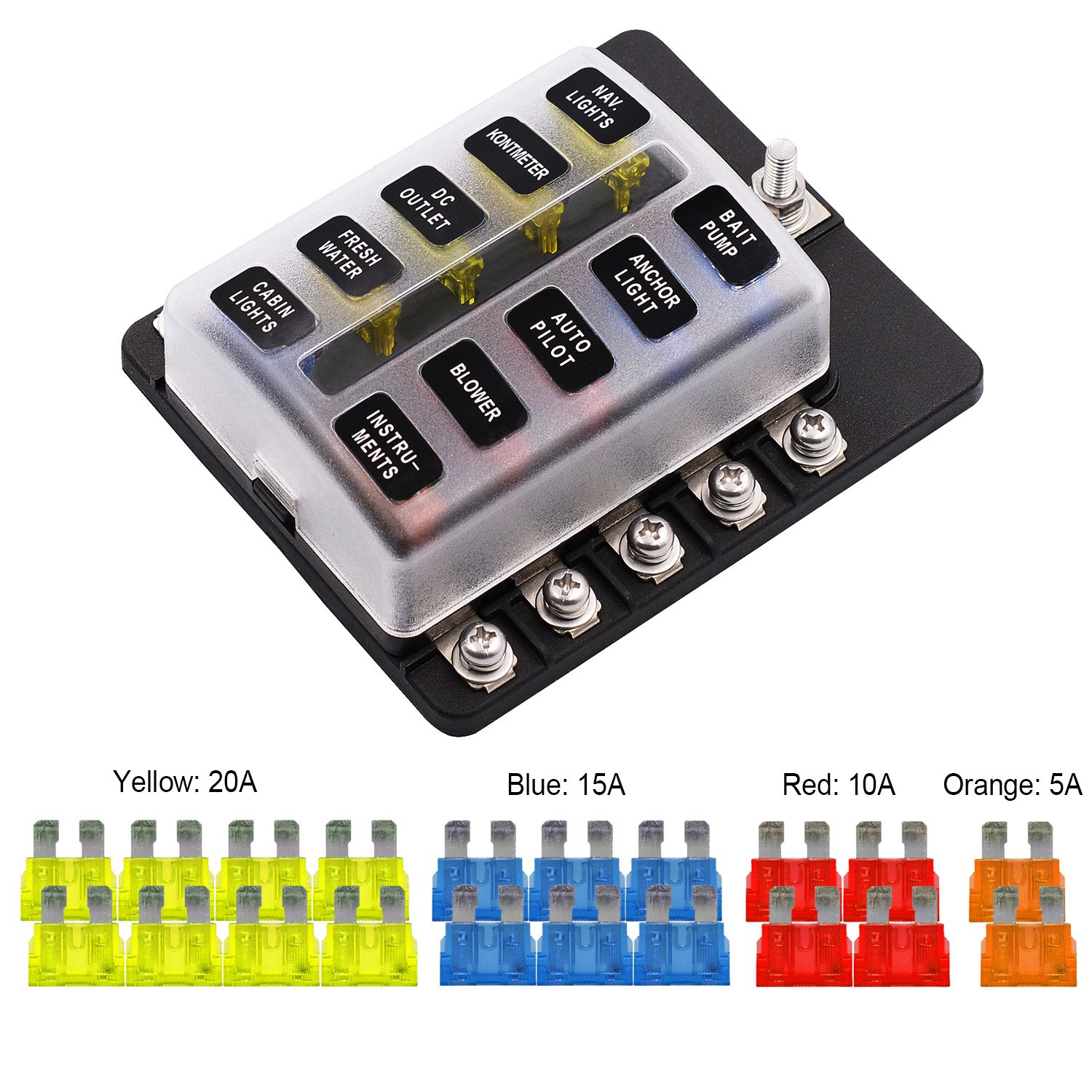 Best rated in automotive replacement fuse boxes helpful