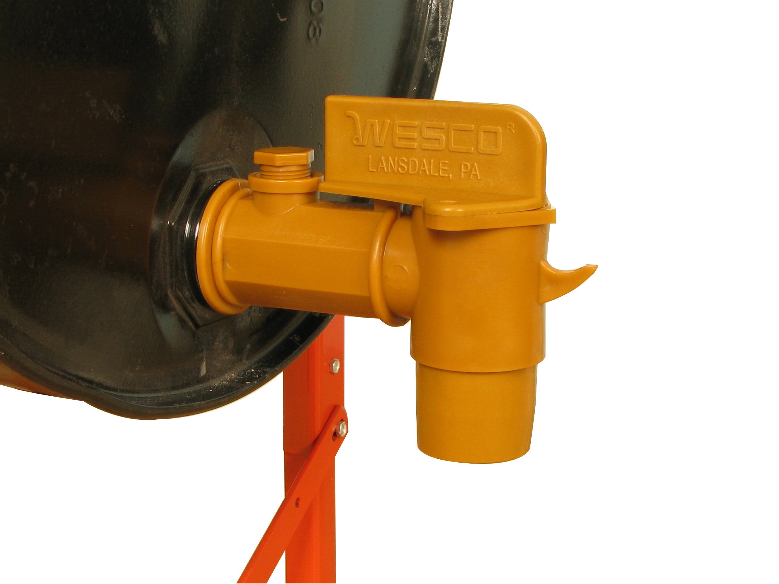 Wesco 272179 Polyethylene Deluxe Drum Faucet with EPDM Gasket, 2'' NPT Connection