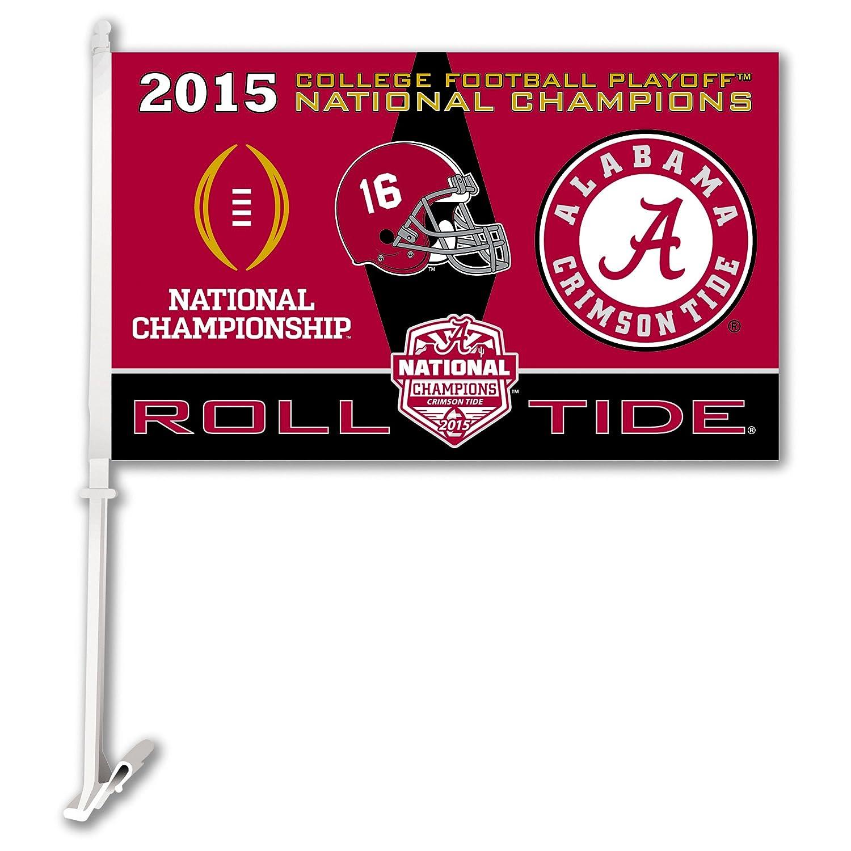 NCAA Alabama Crimson Tide College Football Champ Car Flag, , Team color BSI Products Inc. 45794