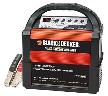 Black & Decker vec1093dbd Smart Cargador De Batería Amplificador de 40/20/10/4: Amazon.es: Coche y moto