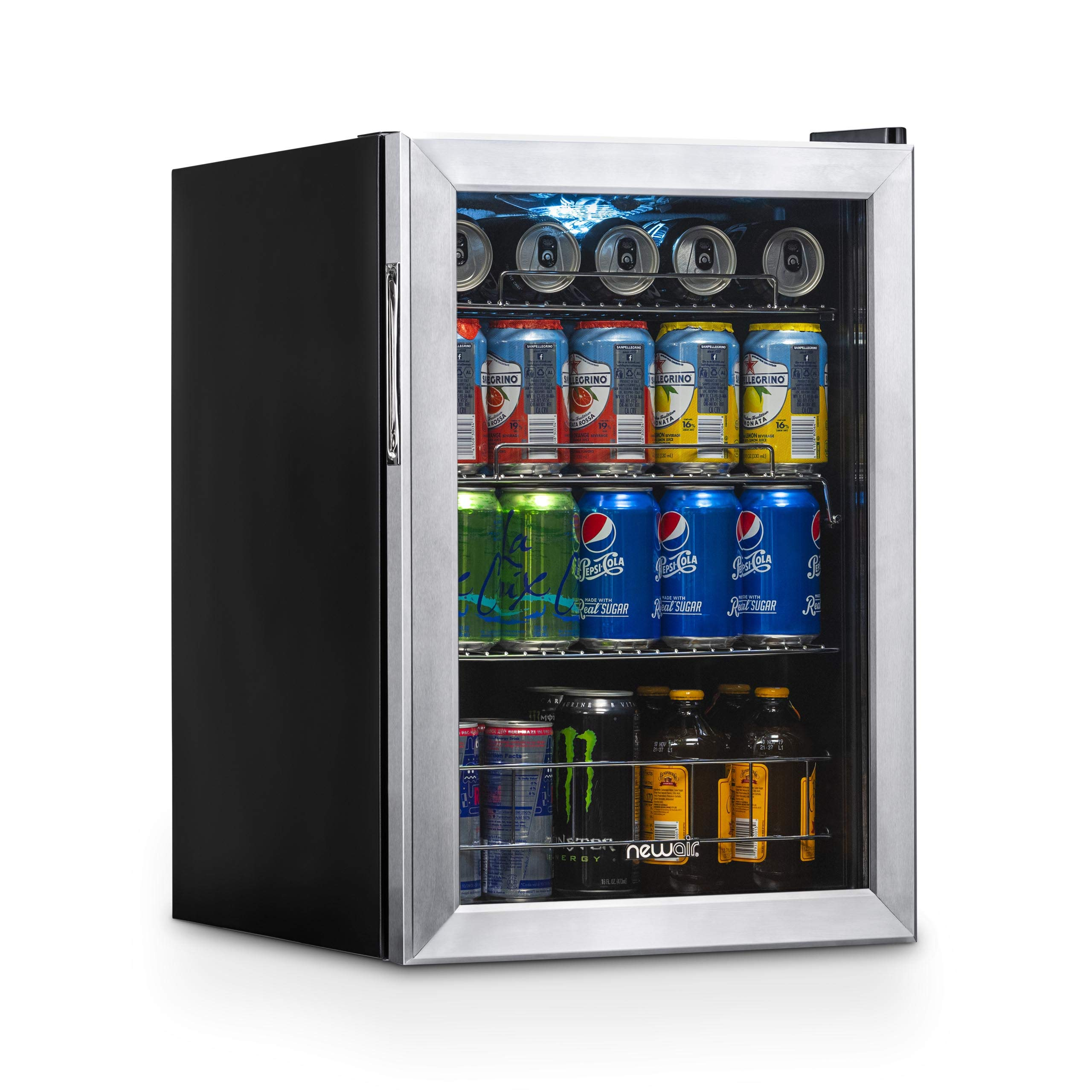 NewAir AB-850 Beverage Refrigerator 90 Can Stainless Steel