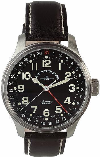 Zeno Watch Basel Pilot Oversized 8554Z-a1 - Reloj de caballero automático con correa de