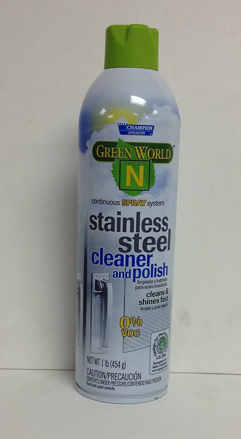 Champion Sprayon Green World N Stainless Steel Cleaner and Polish, 12 Cans/Case, Lot of 1