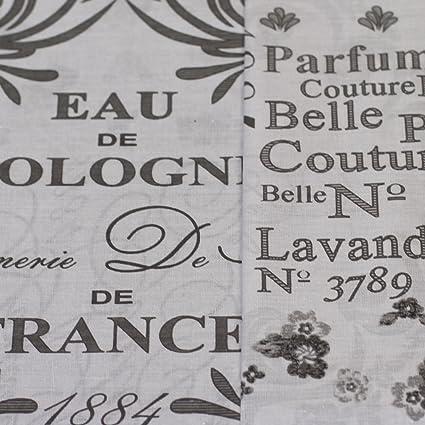 Just Contempo Nobles Eau de Colonia Francés Impresión con Juego de Funda nórdica Reversible para,