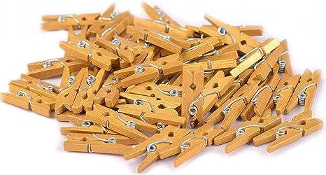 Mini Metallic Gold Pegs x Pack of 20 Craft Scrapbook Home Display