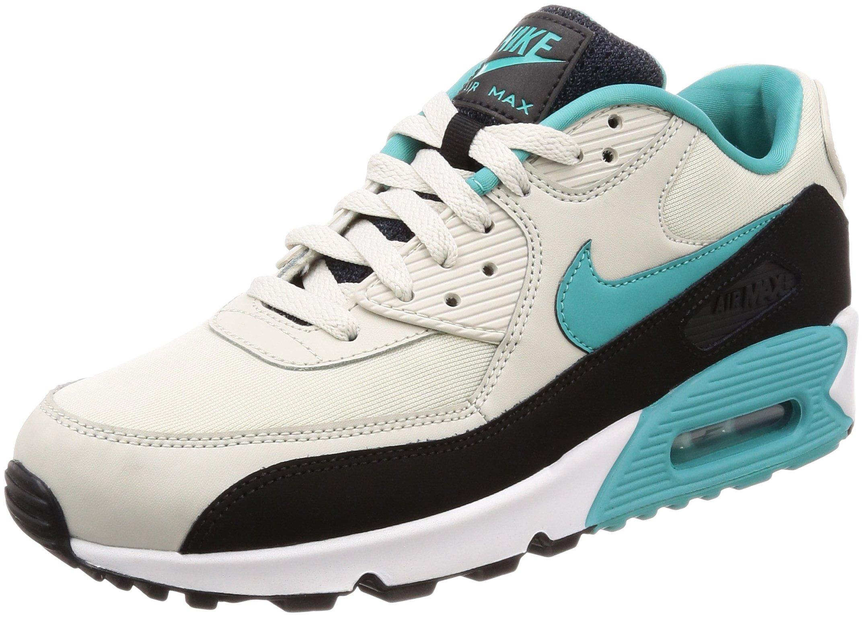 Nike Air Max 90 Essential Mens Running Trainers AJ1285 Sneakers Shoes (UK 9 US 10 EU 44, Light Bone Sport Turquoise Black 001)