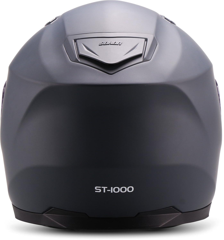"Soxon  ST-1000 Mono /""Black/"" Sonnenvisier  M Integral-Helm  Scooter-Helm Motorrad-Helm Full-face Cruiser Roller Sturz-Helm  ECE zertifiziert  inkl Schwarz 57-58cm"