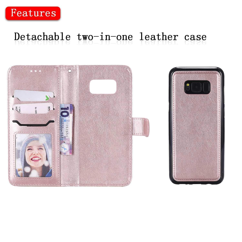Blau Flip Leder Handyh/ülle Tasche mit Kartensfach 360 Grad Voll Schutz Bear Village/® H/ülle f/ür Samsung Galaxy S8 Plus TPU Innere Ledertasche