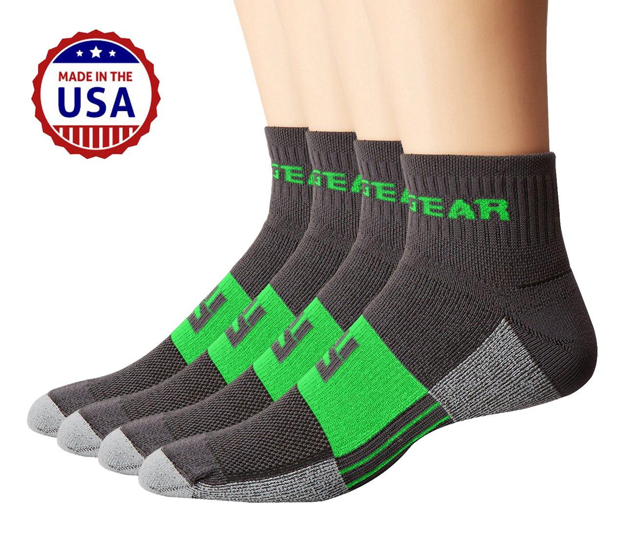 MudGear Trail Running Socks for Men and Women - 2 Pair Pack
