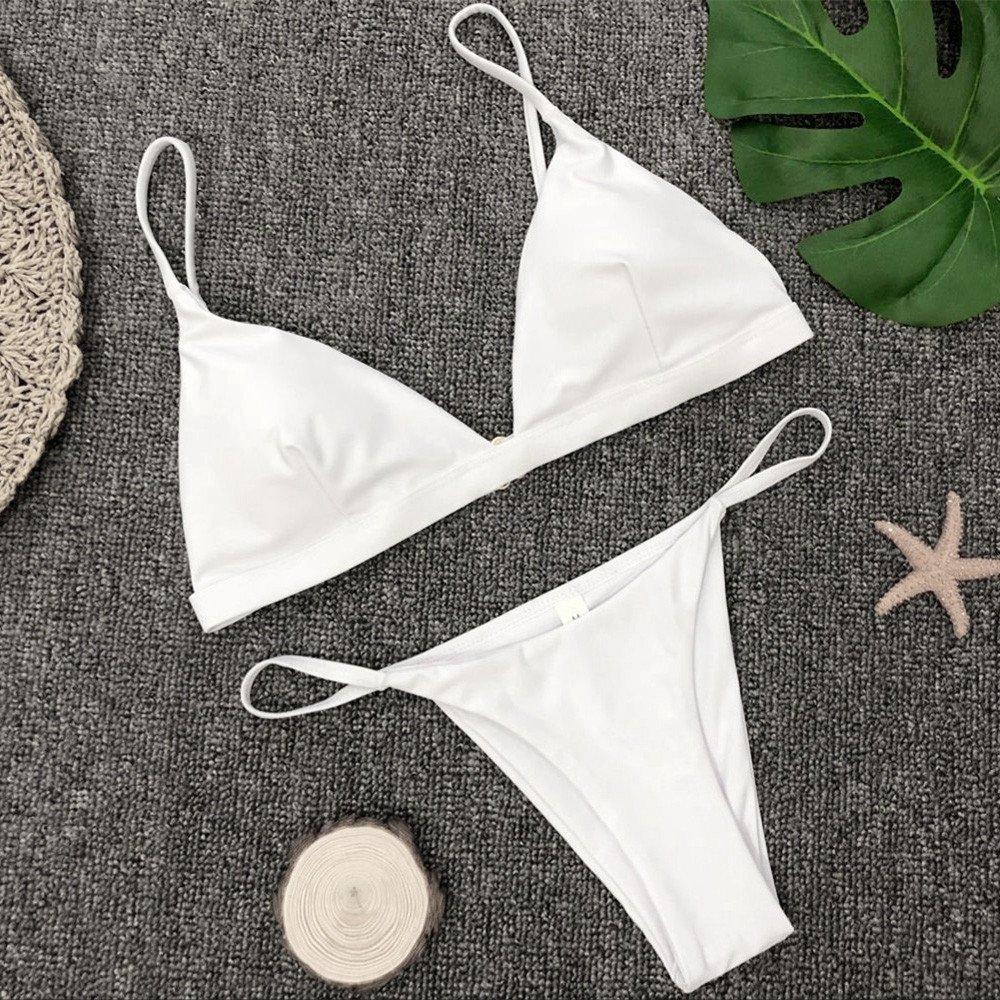 _Traje de baño Mujer, Bikinis Conjuntos Traje De Baño Sexy ...