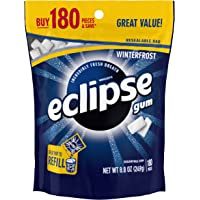 Eclipse Winterfrost 180-Piece Sugarfree Gum Bag