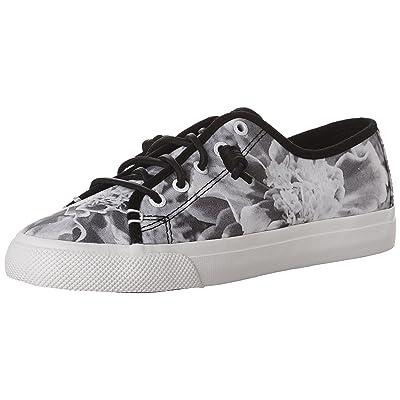 Sperry Women's Seacoast Floral Print Fashion Sneaker, Black/White, 8 M US | Fashion Sneakers