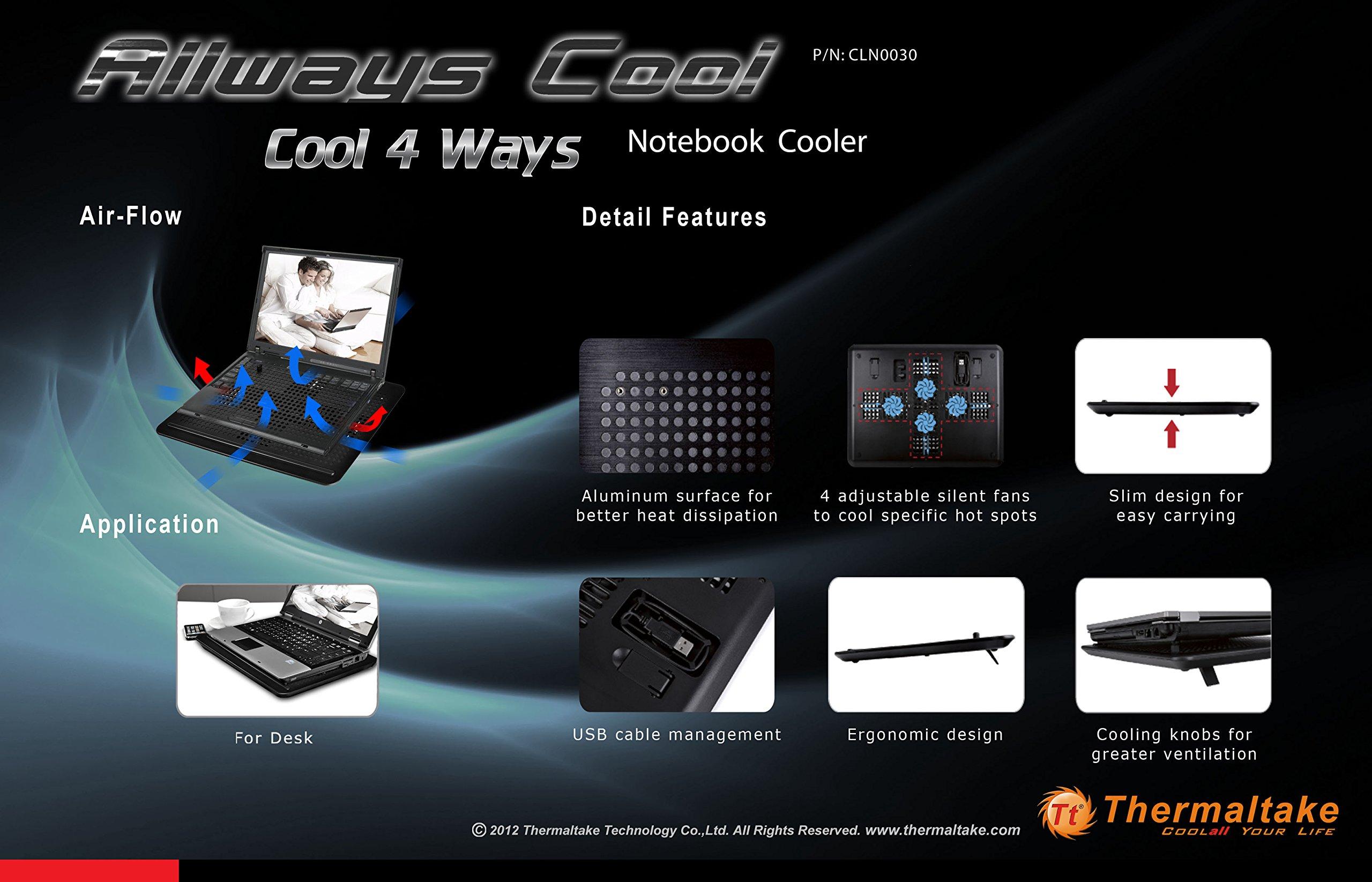 Thermaltake Allways Cool Notebook Cooler (CLN0030) by Thermaltake (Image #6)