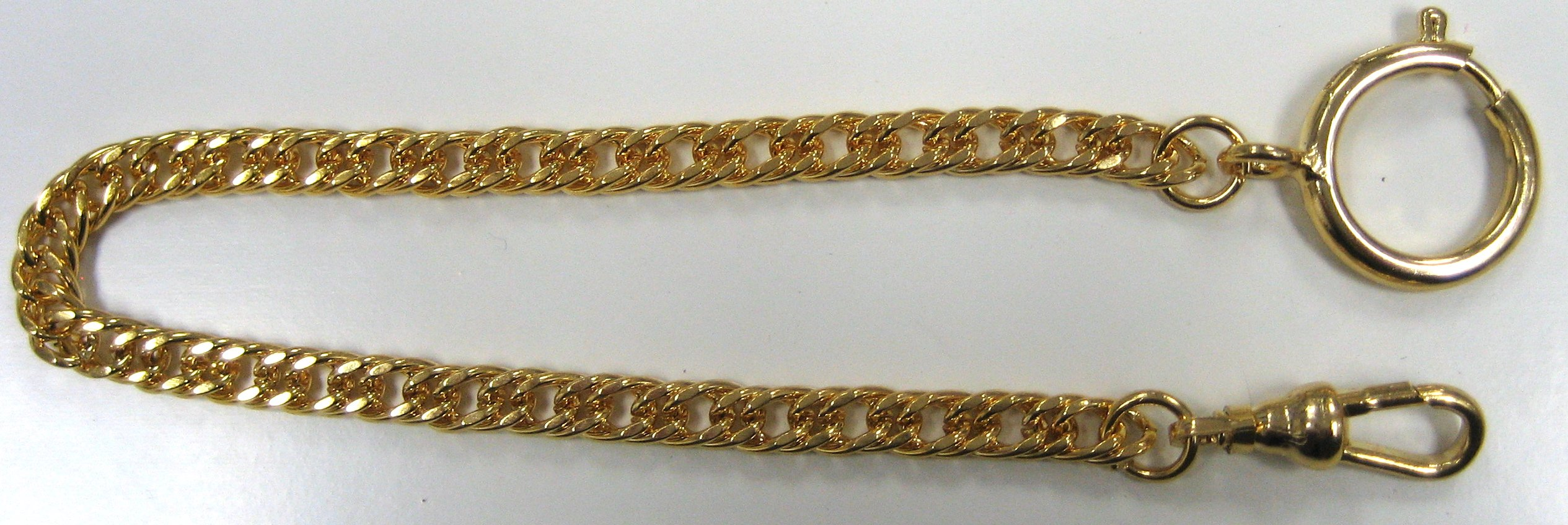 Gold Stainless Steel Pocket Watch Vest Chain FOB