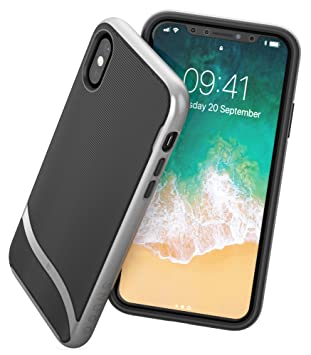 official photos 843ad ee6f6 Snugg iPhone XS / iPhone X Case - Slim Cover Protective Bumper TPU Skin  Shockproof Hard Case - Space Grey