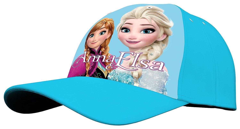 Kids Frozen, Berretto con Stampa Elsa e Anna Bambina, Blu, Taglia Unica 894709