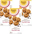 Simple Mills Almond Flour Chocolate Chip Cookies, Gluten Free and Delicious Crunchy Cookies, Organic Coconut Oil, Good for Snacks, Made with whole foods, 3 Count (Packaging May Vary)