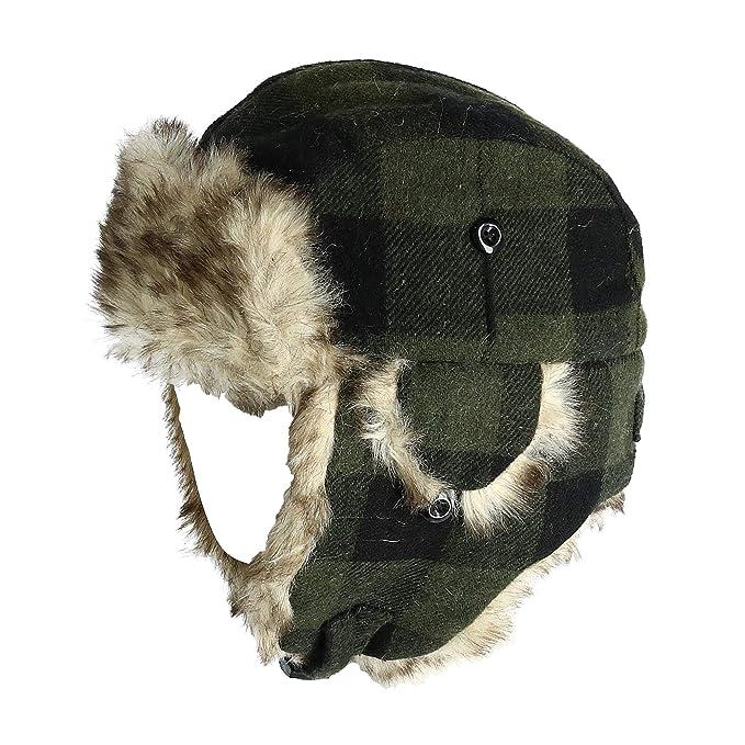 Polar Extreme Wool Blend Buffalo Plaid Aviator Hat  Amazon.ca  Clothing    Accessories 03607db2c68e