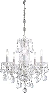 product image for Schonbek 2999-40H Swarovski Lighting Sterling Chandelier, Silver