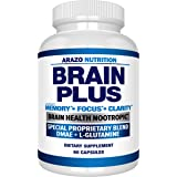 Premium Brain Function Supplement – Memory, Focus, Clarity – Nootropic Booster with DMAE, Bacopa Monnieri, L-Glutamine, Multi