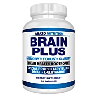 Premium Brain Function Supplement – Memory, Focus, Clarity – Nootropic Booster with...