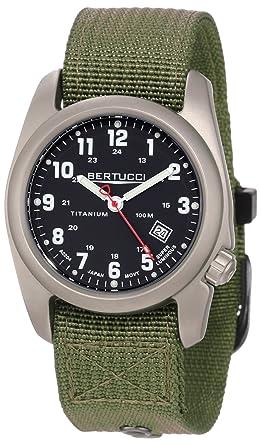 ba06a86d479 Image Unavailable. Image not available for. Color  Bertucci Men s 12122 A-2T  Original Classics Durable Titanium Field Watch