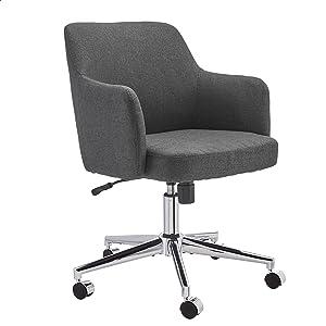 Amazon Basics Twill Fabric Adjustable Swivel Office Chair - Charcoal Grey