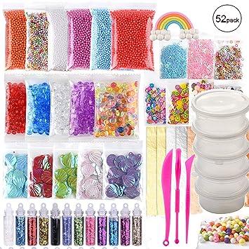 (52 piezas) OOTSR accesorios de limo con bolas de pecera, bolas de espuma