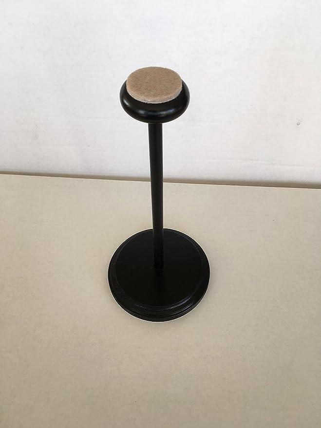 Amazon.com: Grandes Negro Sombrero de madera stand con parte ...