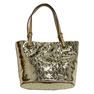 6f1e9fa057 Amazon.com  Michael Kors Purse Jet Set Item MD Tote in Pale Gold  Shoes