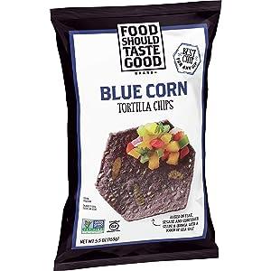 Food Should Taste Good Tortilla Chips, Blue Corn, 5.5 Ounce