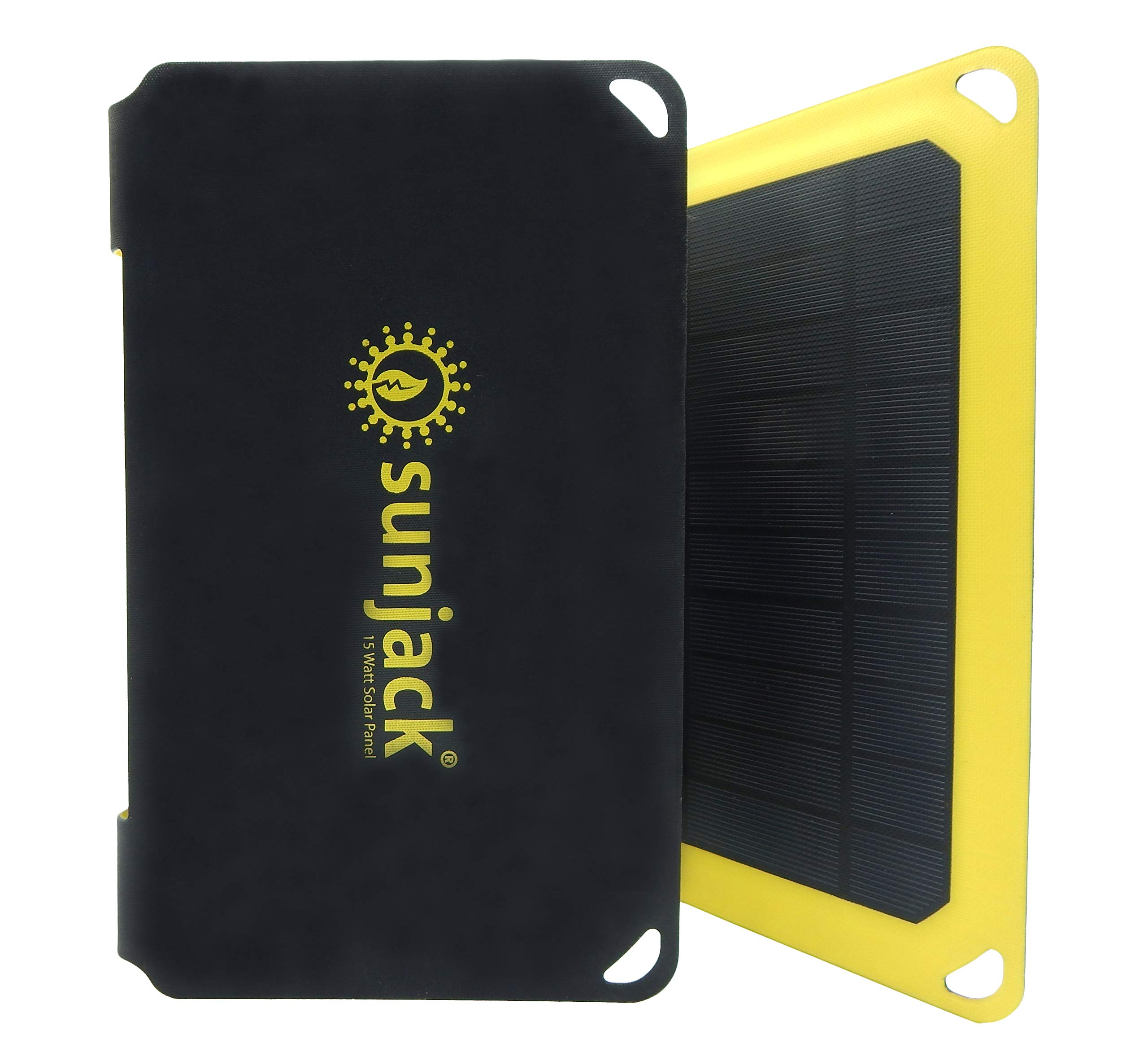 SunJack 15W Solar Charger Portable Solar Panel with USB for Cell Phones, Tablets for Backpacking, Camping, Hiking and More by SunJack